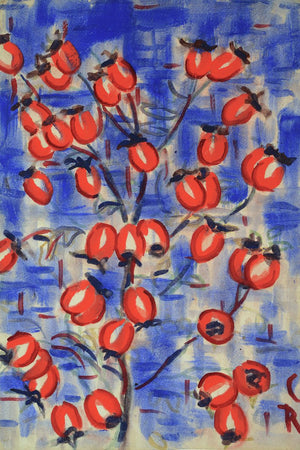 Rosehips (Hagebutten) by Christian Rohlfs - 1915