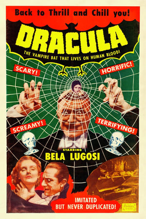 Dracula Movie Poster - 1951 Reissue of 1931 Movie