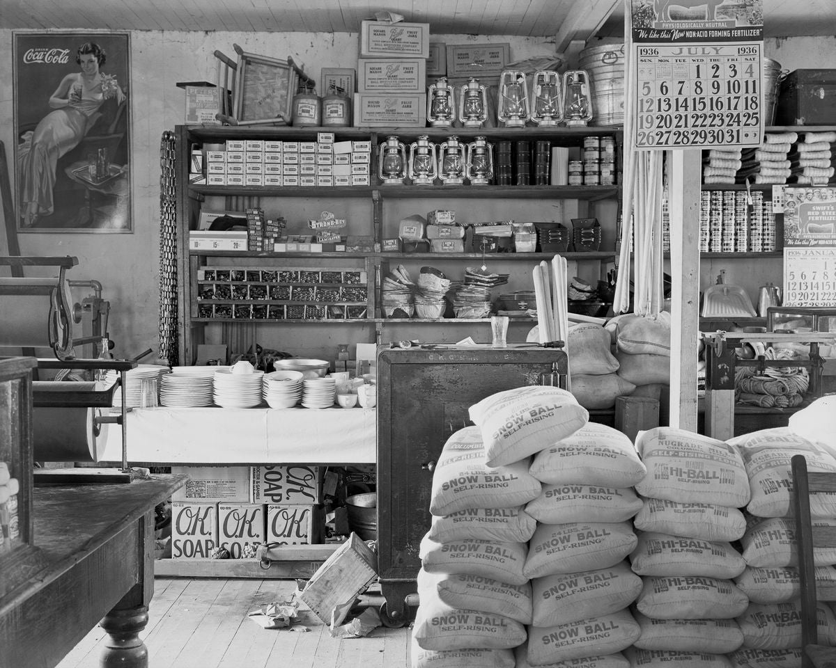 General Store Interior, Moundville, Alabama by Walker Evans - 1936
