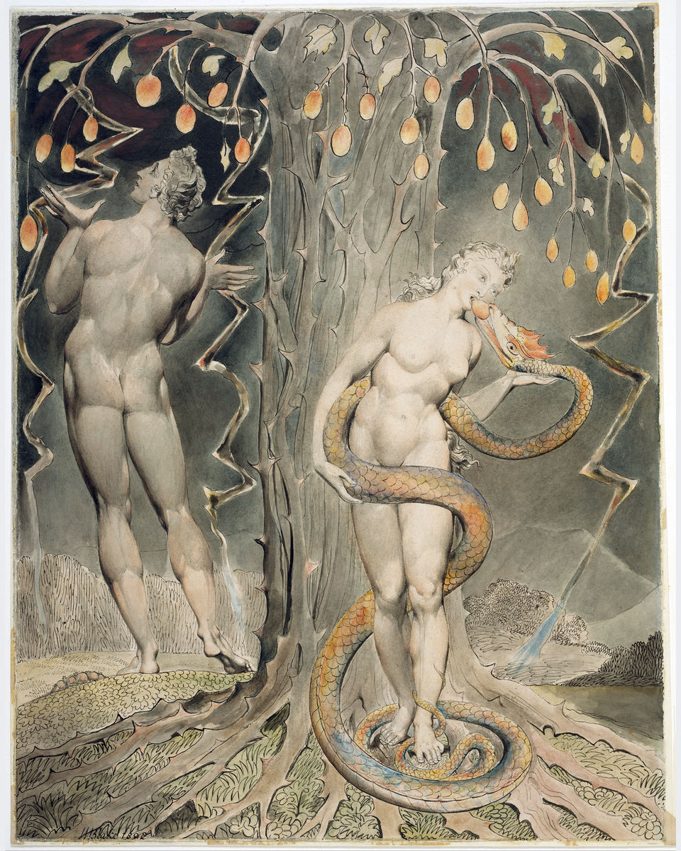 The Temptation and Fall of Eve by William Blake - 1808