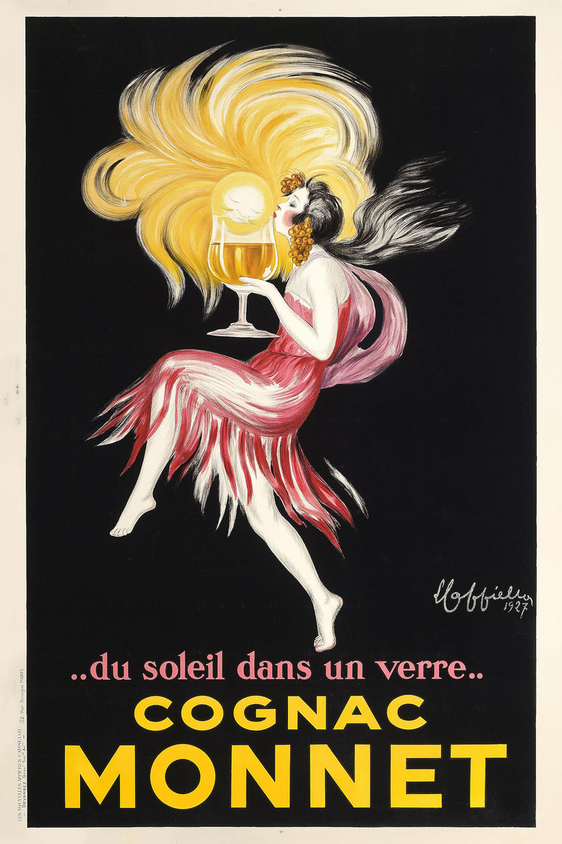Leonetto Capiello's advert for Cognac Monnet. Date: c.1927