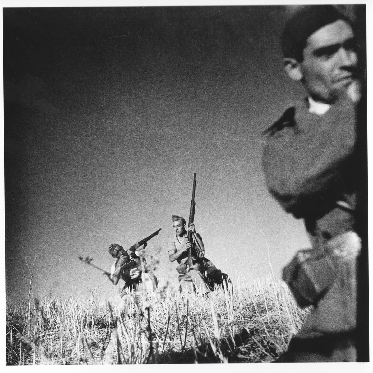 Three republican soldiers, Cordoba Front by Gerda Taro - 5 September, 1936
