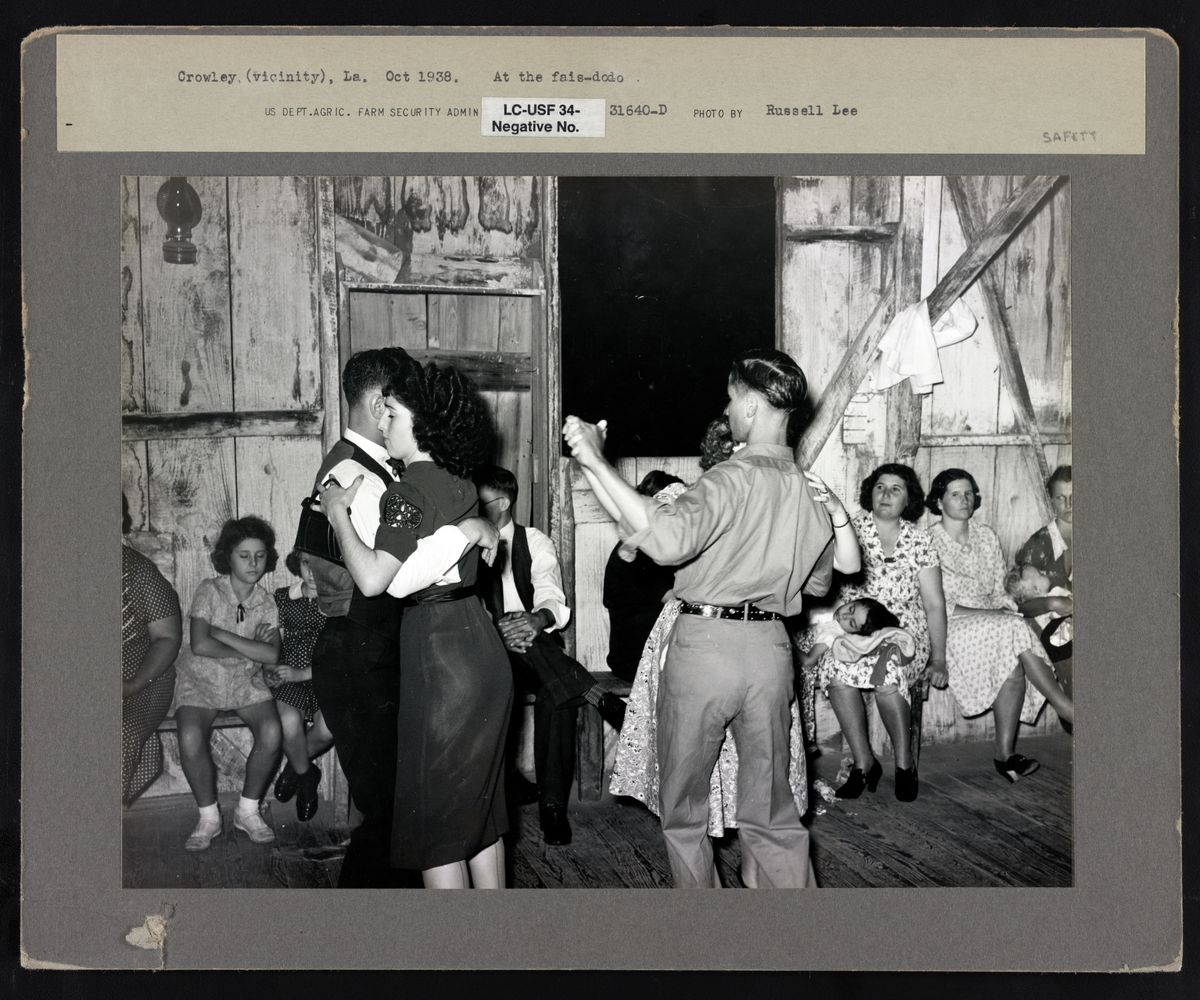 Fais-do-do Dance near Crowley, Louisiana by Russell Lee (stamped) - 1938