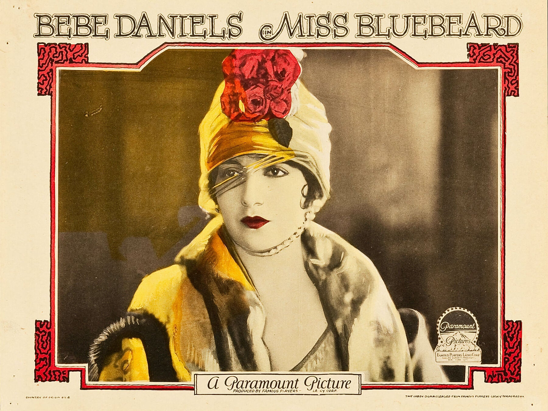 Miss Bluebeard Lobby Card - 1925