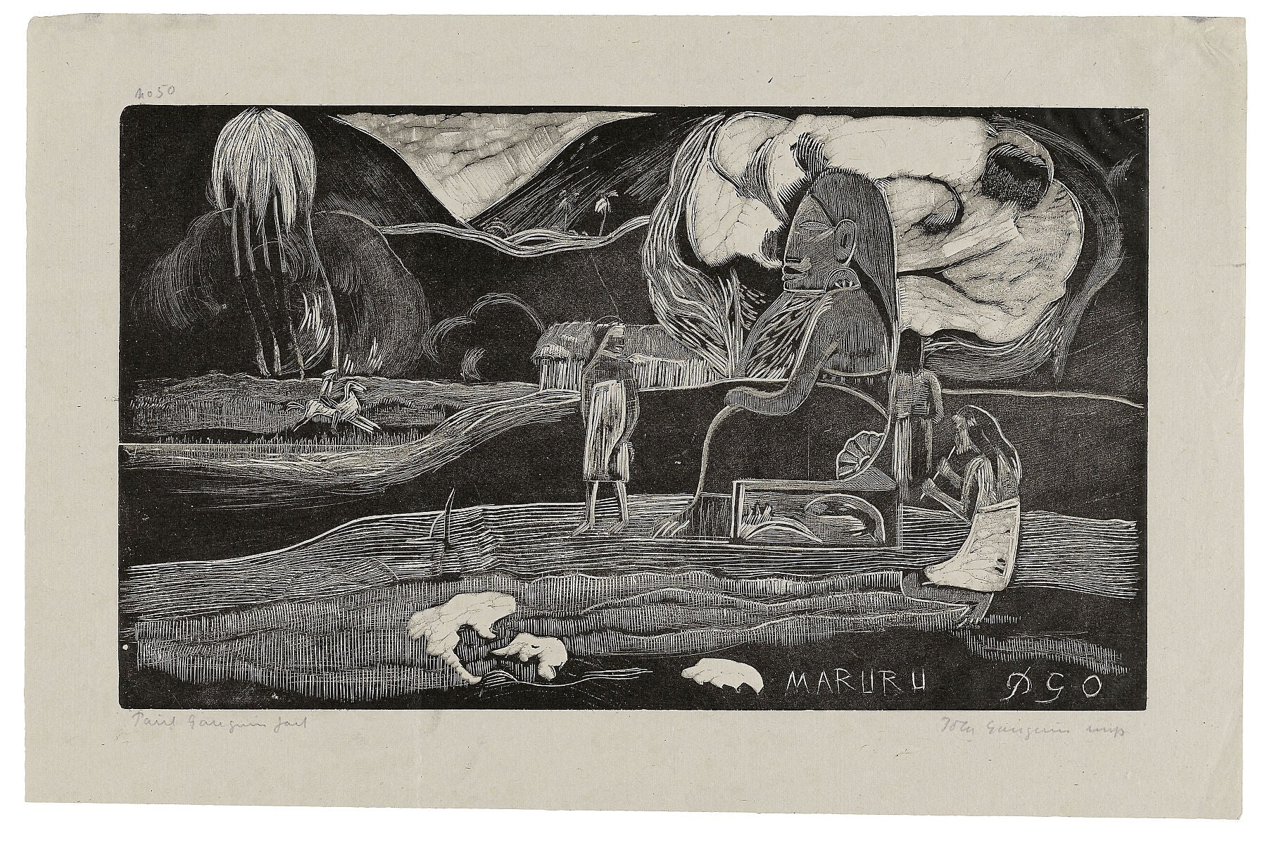Maruru (Offerings of Gratitude), from the Noa Noa Suite - 1893–94 printed and published in 1921 - by Paul Gauguin.