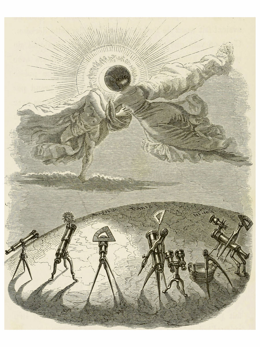 Eclipse by J.J. Grandville - 1844