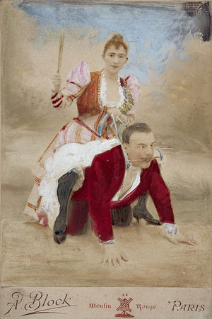 Woman Riding A Man, c. 1886 - From Sexologist Richard Freiherr von Krafft-Ebing's Private Papers
