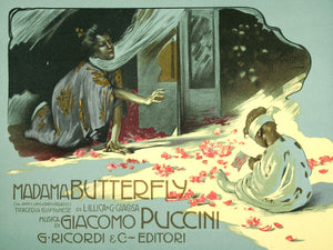 Madama Butterfly by Adolfo Hohenstein - 1914