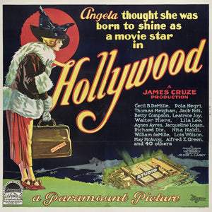 Hollywood, movie poster - 1923