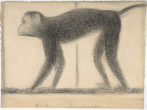Monkey by Georges Seurat - 1884