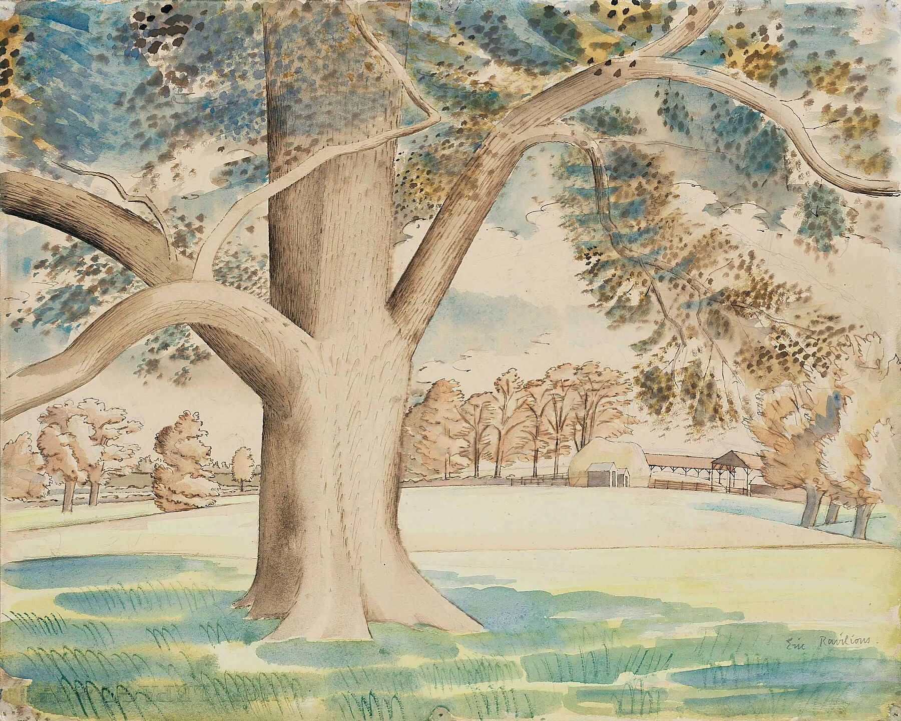 Field Elm by Eric Ravilious - 1933