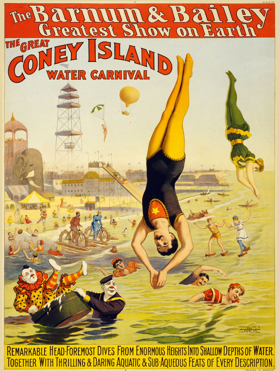 The Great Coney Island Water Carnival - 1898
