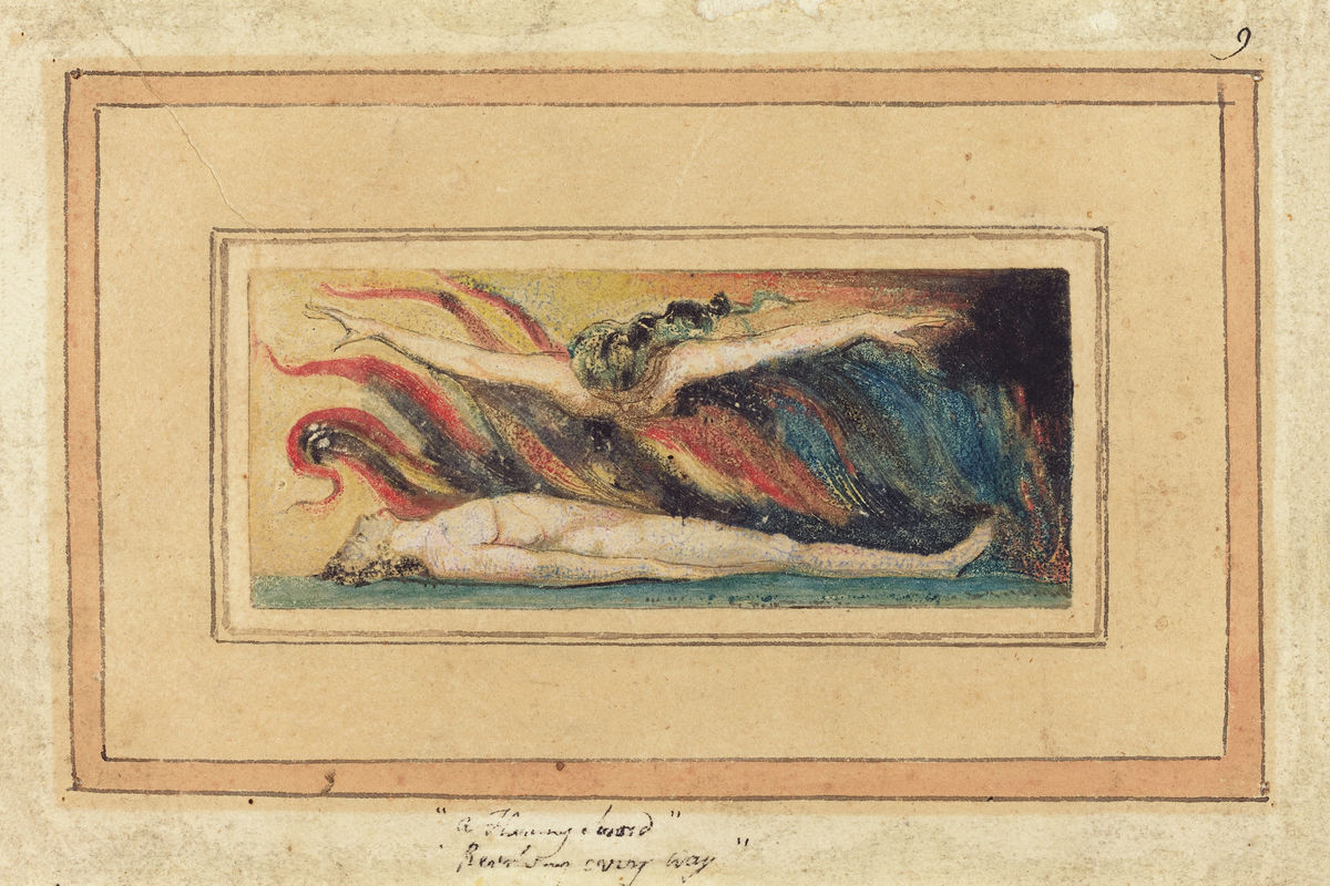 The Soul Hovering Over the Body by William Blake - c. 1796