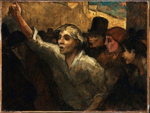 The Uprising (L'Emeute) by Honoré Daumier - 1848