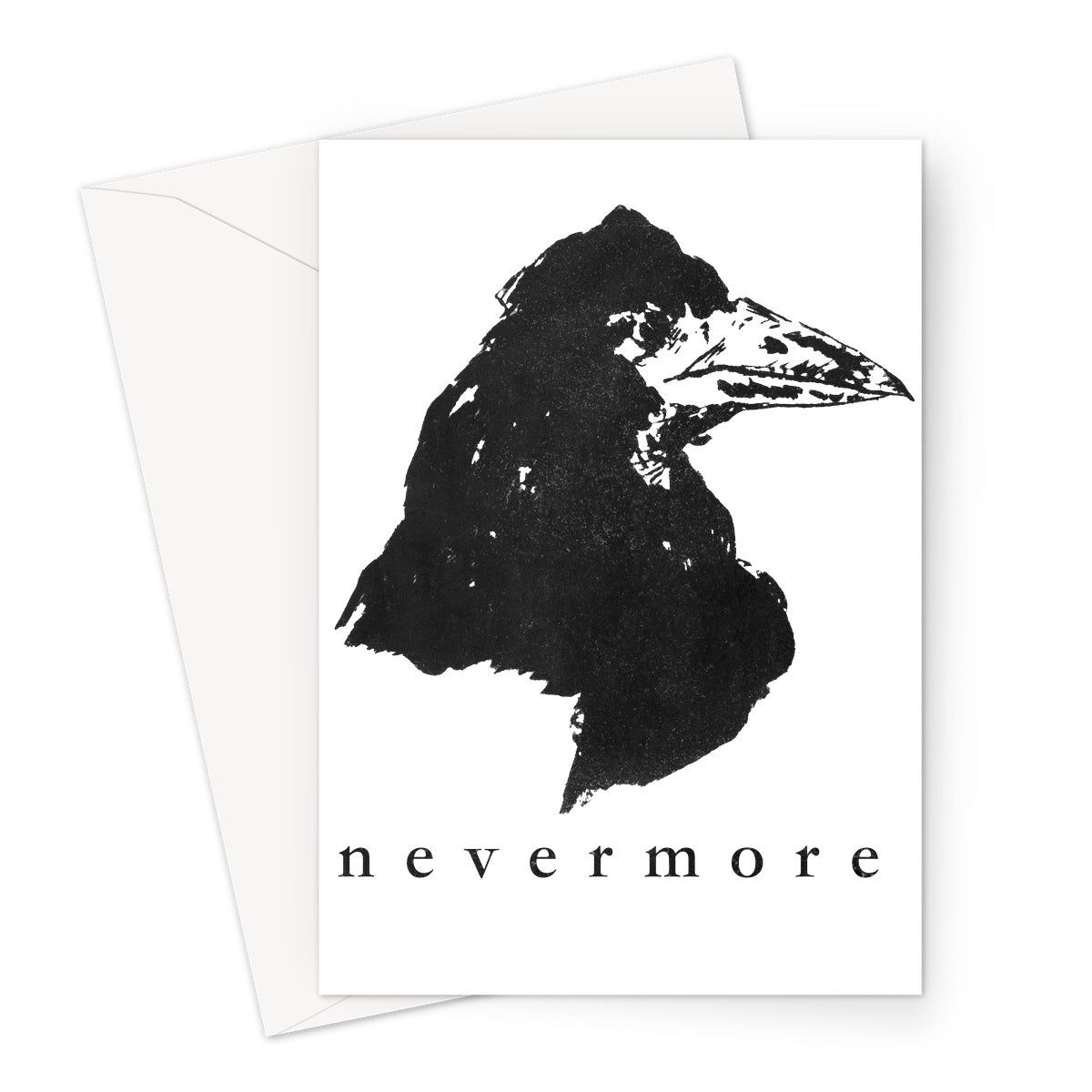 The Raven T-Shirt Greeting Card