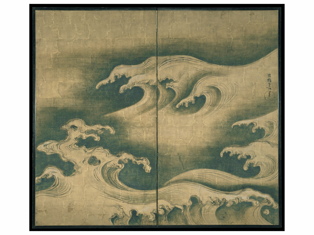 Rough Waves by Ogata Kōrin - c. 1704 - 1709
