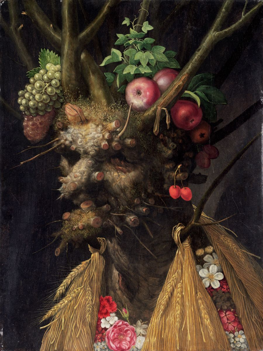 Four Seasons in One Head by Giuseppe Arcimboldo c.1590