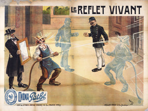 Poster for Pathé Frères'  Film by Camille de Morlhon, 1908.