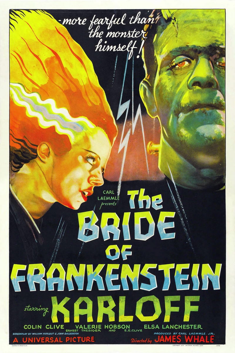 Bride of Frankenstein Movie Poster - 1935