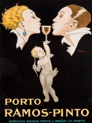 Advert for Porto Ramos-Pinot by Rene Vincent (French 1879-1936).