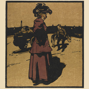 London Types : Costermonger by William Nicholson - 1898.  Printmaker William Nicholson worked in partnership with his brother-in-law James Pryde, under the pseudonym the Beggarstaf Brothers.