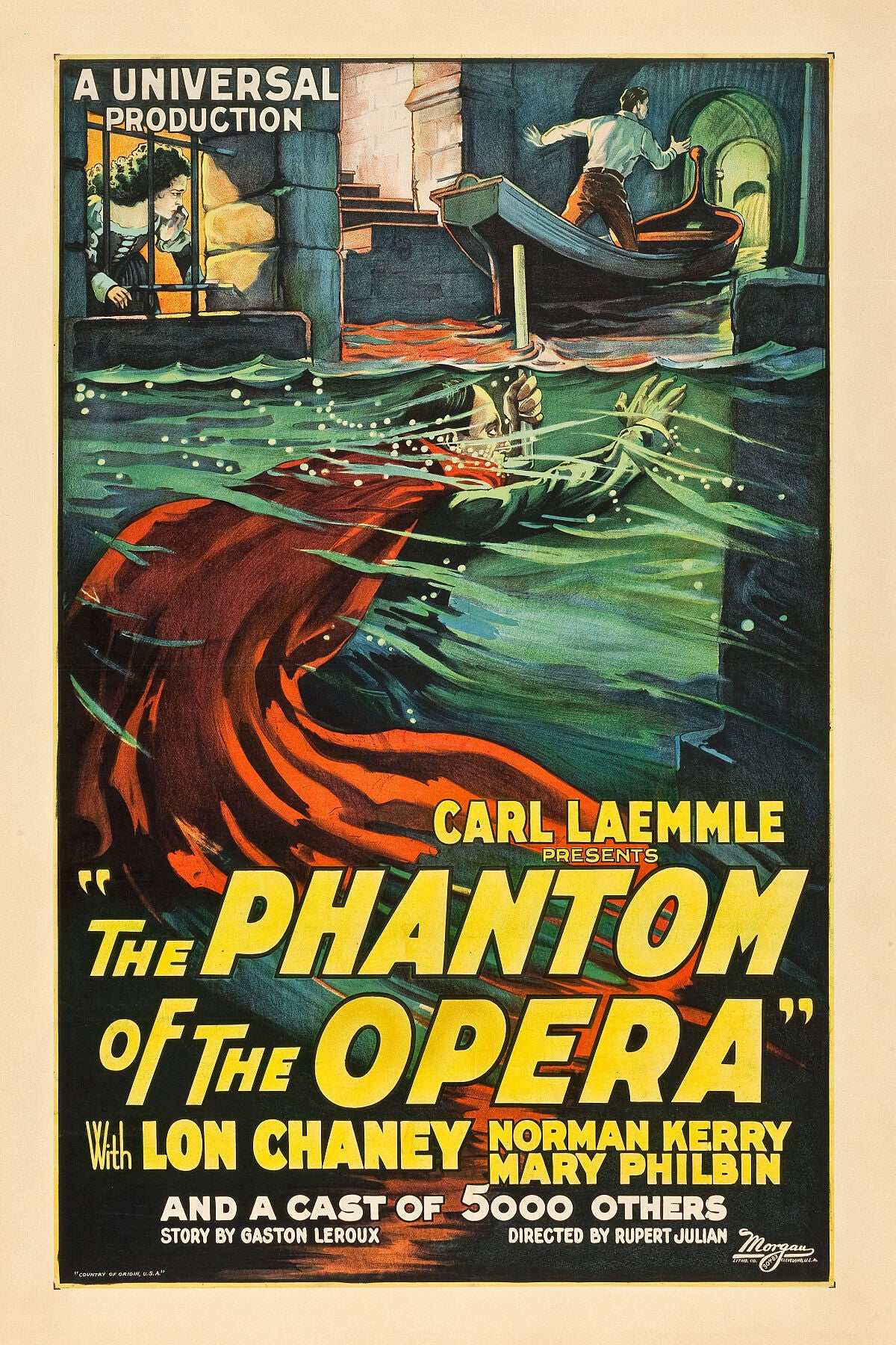 Poster advertising The Phantom of the Opera, 1925.