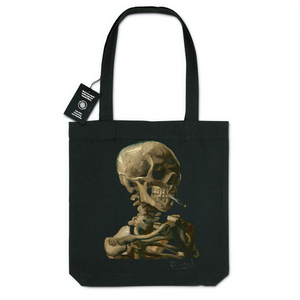 Smoking Skeleton by Vincent Van Gogh, 1886 - Organic Tote Bag