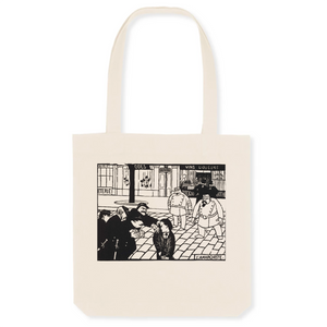 A 100% organic cotton Tote bag featuring The Anarchist by Felix Vallotton - 1892.
