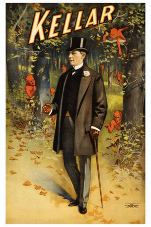 Promotional Poster for Henry Kellar - 1900