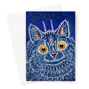 Cat in 'Gothic Style' by Louis Wain - 1925 Greeting Card