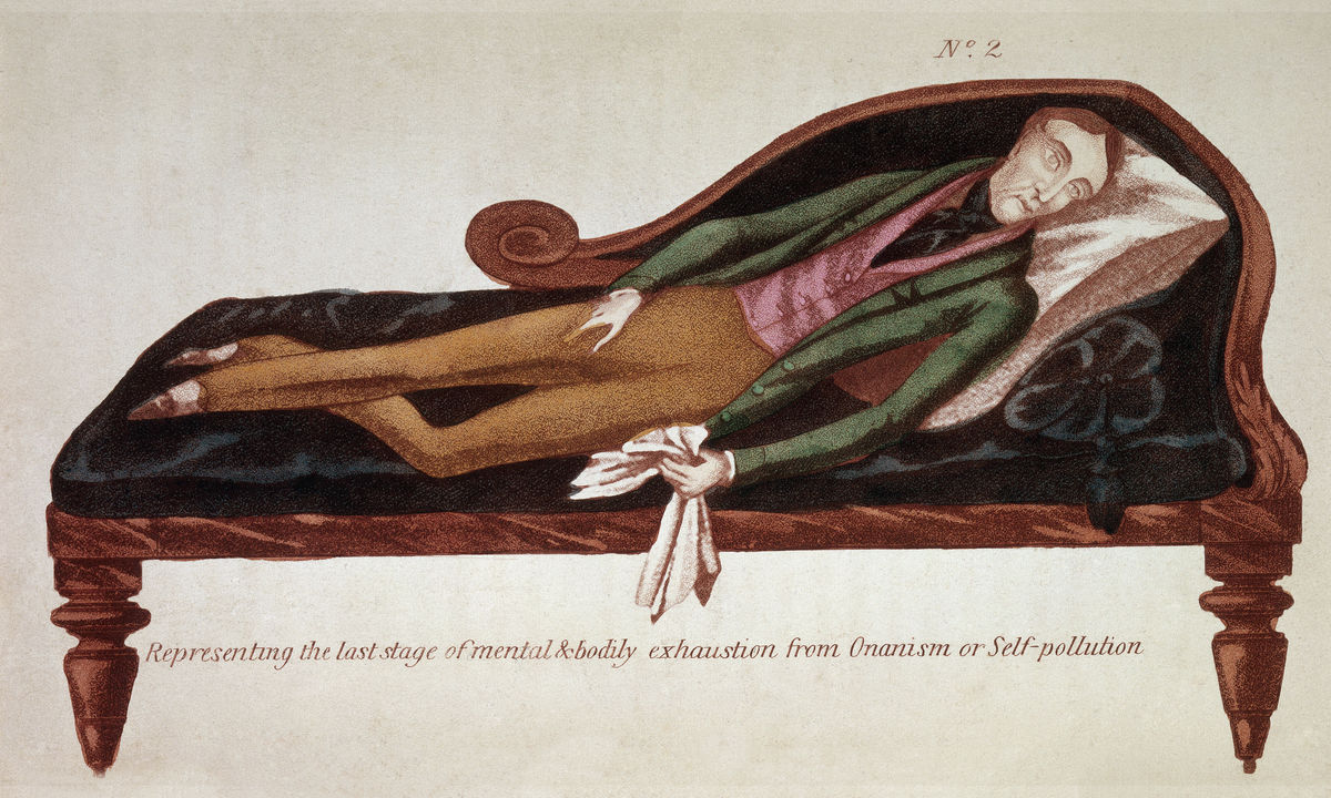 Representing The Last Stage of Mental & Bodily Exhaustion from Onanism - 1845