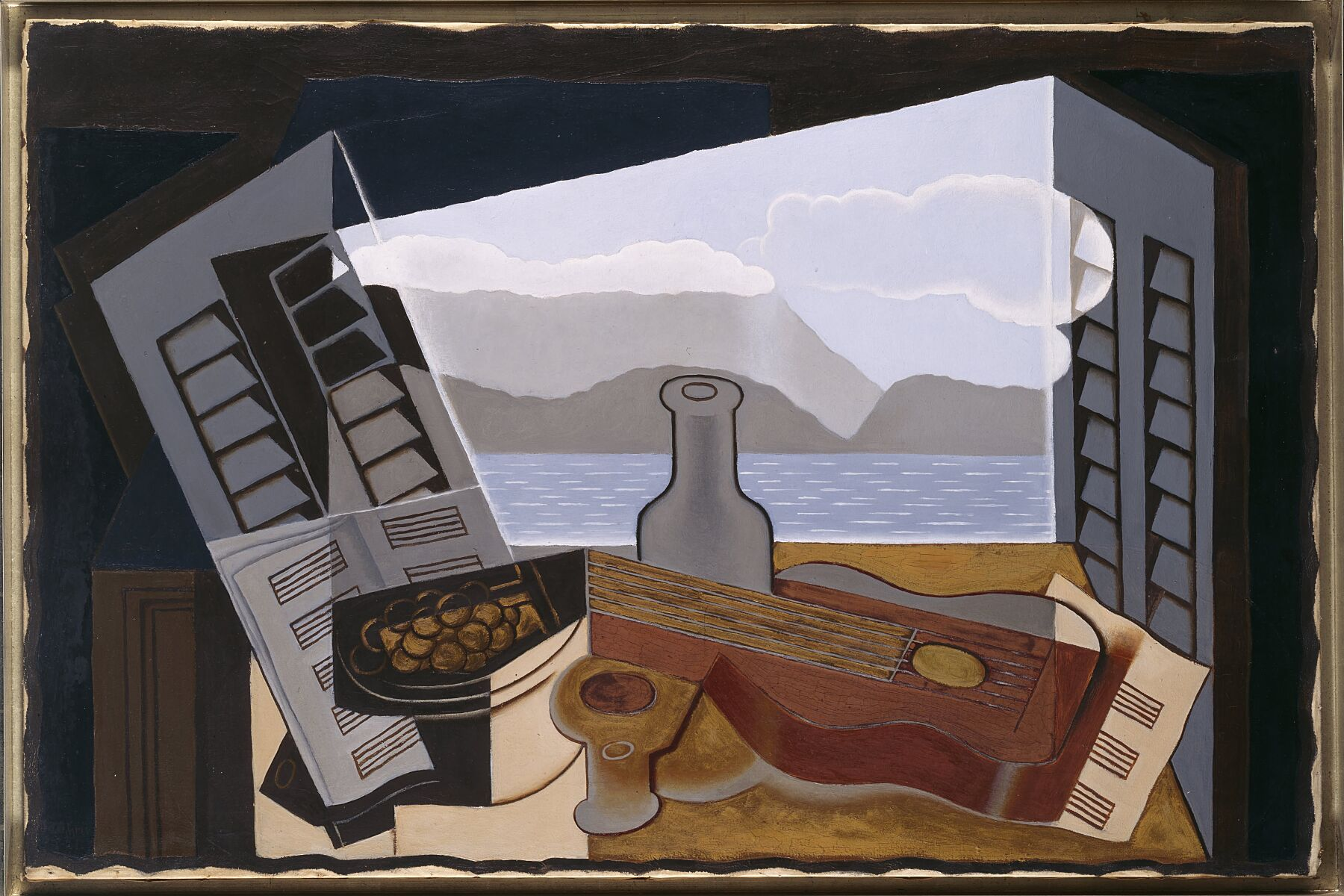 Juan Gris - La fenêtre ouverte, Open Window , 1921 , oil on canvas , 55 x 100 cm  (Museo Nacional Centro de Arte Reina Sofía AD01033)