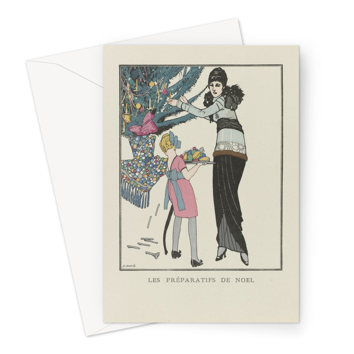 Christmas Preparations, 1914 - Greeting Card