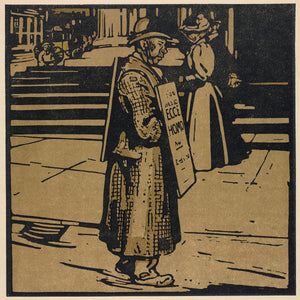 London Types : Sandwich Man by William Nicholson - 1898