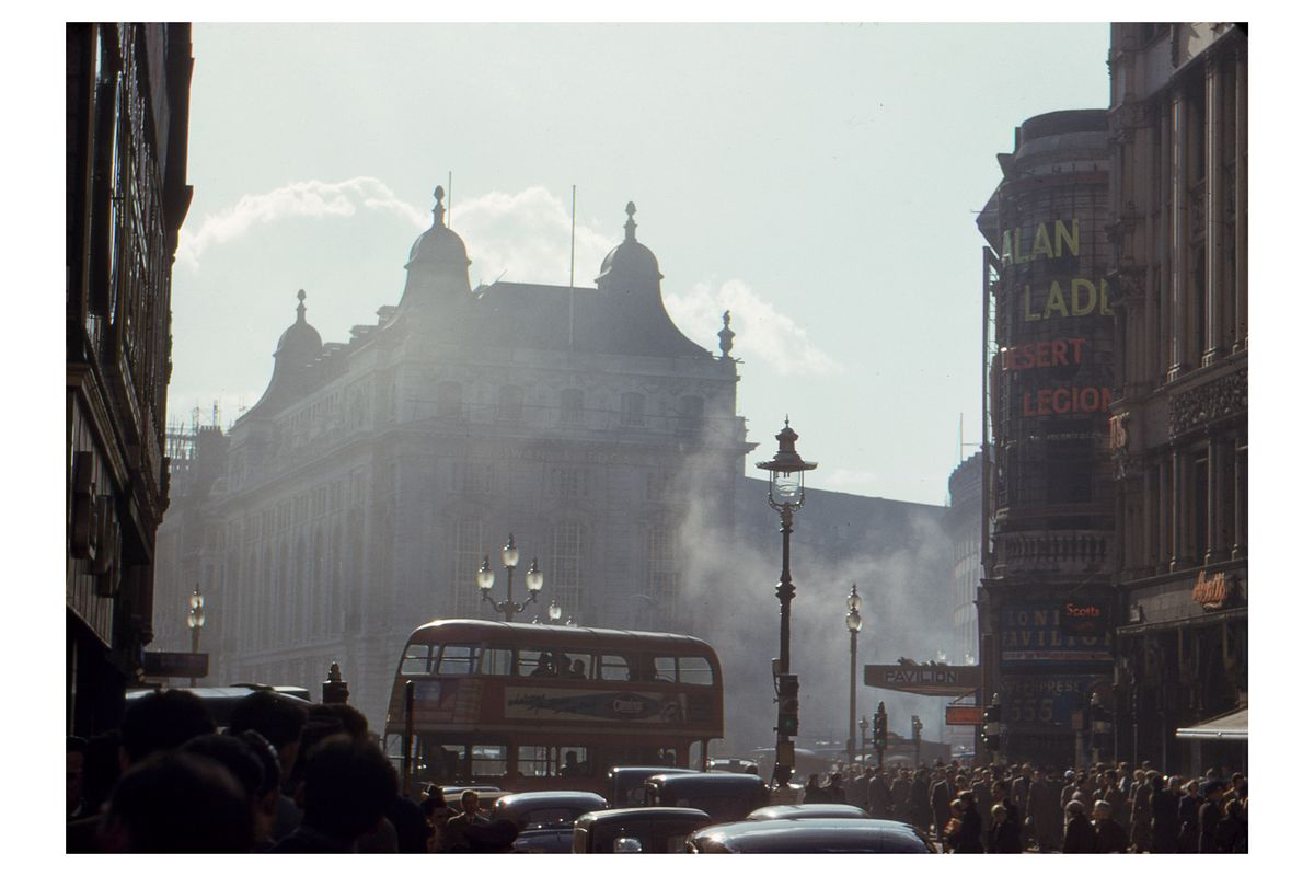 Piccadilly in London By Hardwicke Knight - 1953