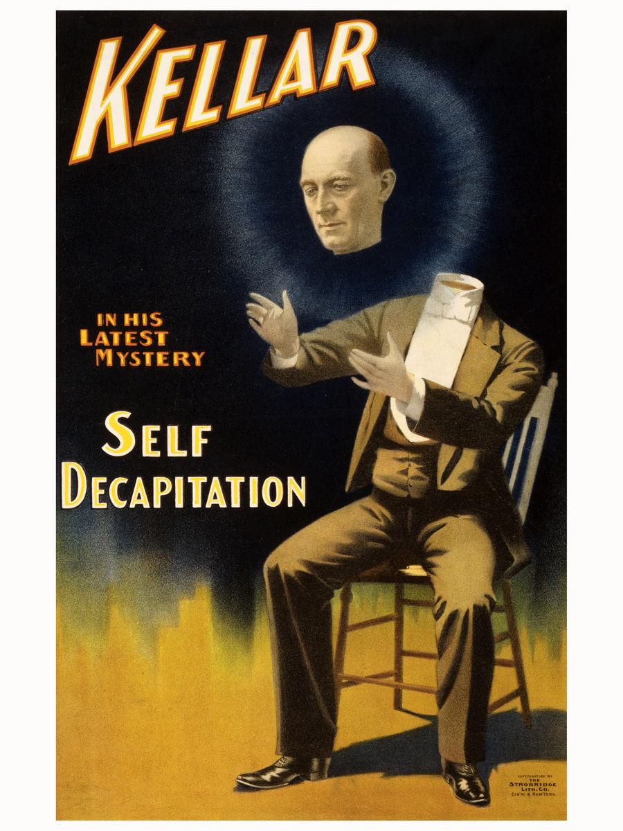 Kellar, Self Decapitation, poster - 1897