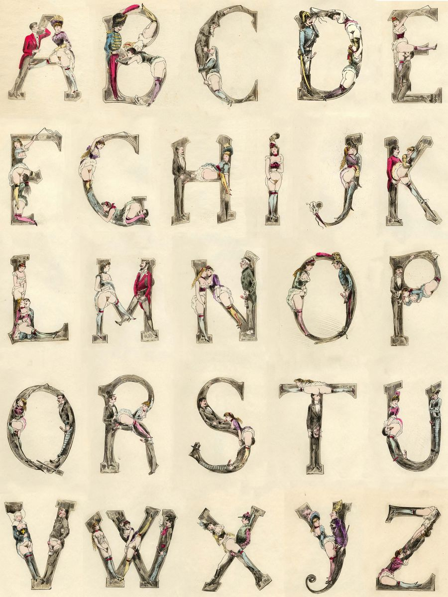 The Erotic Alphabet by Joseph Apoux - 1880