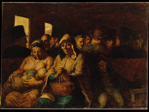 The Third-Class Carriage by Honoré Daumier - 1862-64