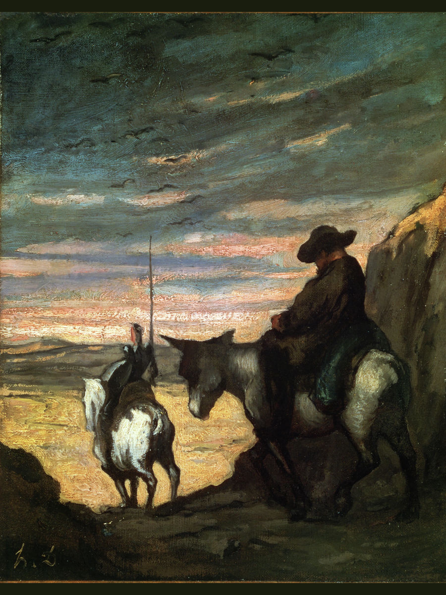 Don Quixote et Sancho Panza by Honoré Daumier - 1868
