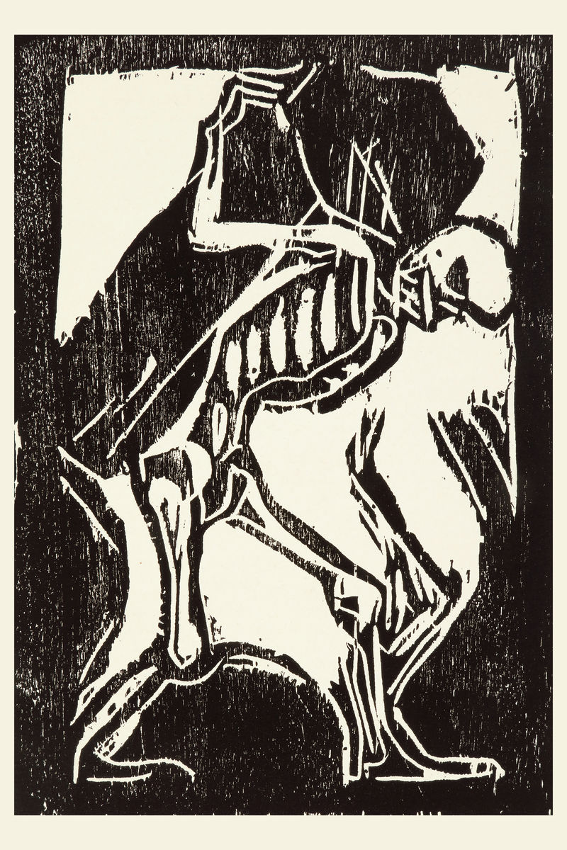Death with a Coffin by Christian Rohlfs - undated