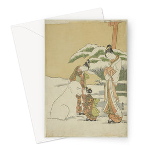Making a Snow Dog Date- c. 1767-68 - Greeting Card