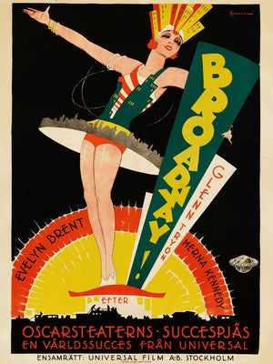 Poster for the Movie 'BROADWAY' by Eric Rohman - 1929