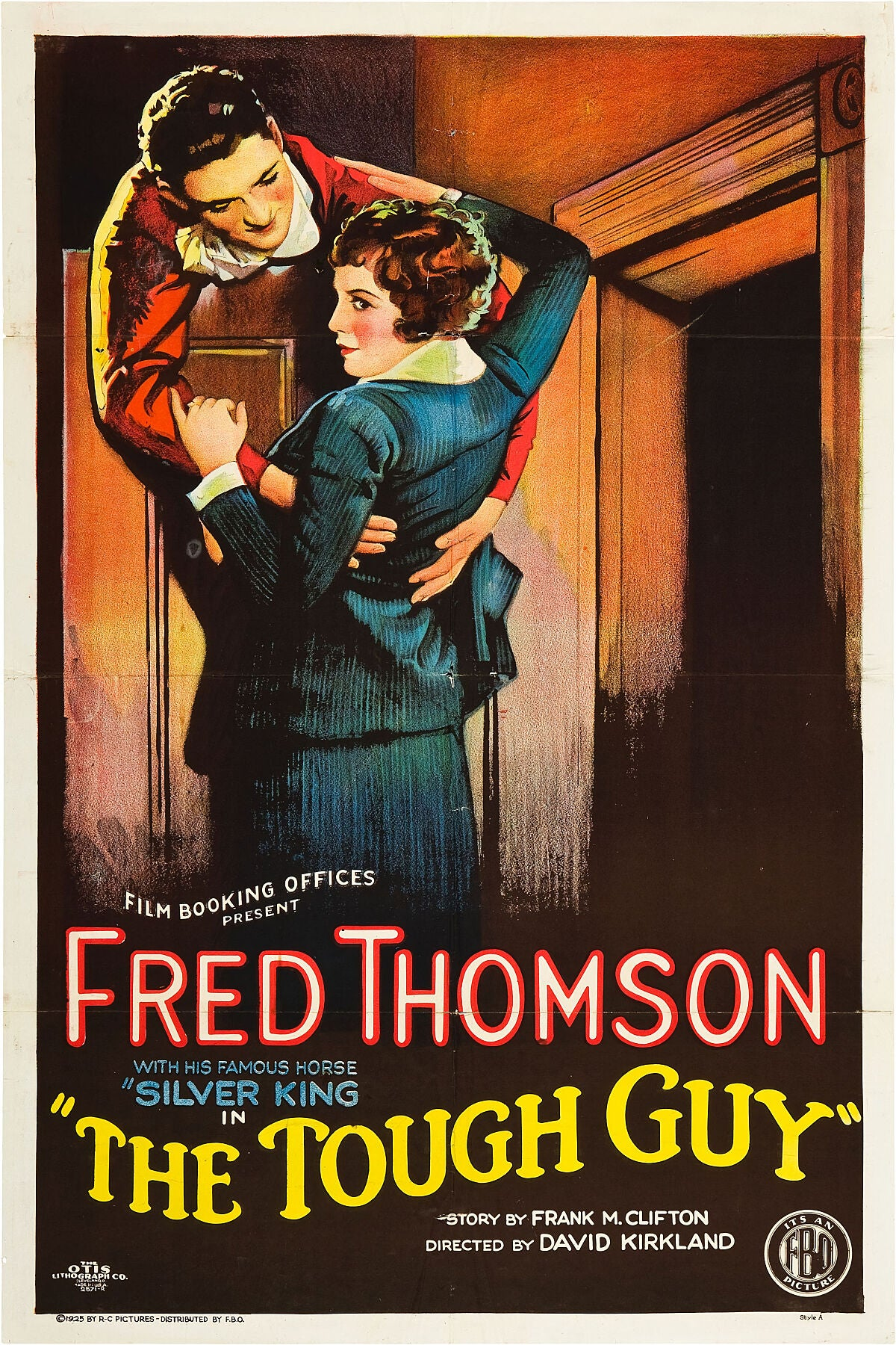 Print of a poster for The Tough Guy movie, 1925.