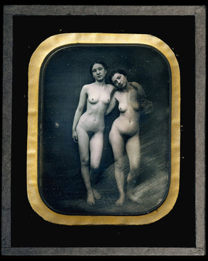 Two Standing Female Nudes by Félix-Jacques-Antoine Moulin - 1850