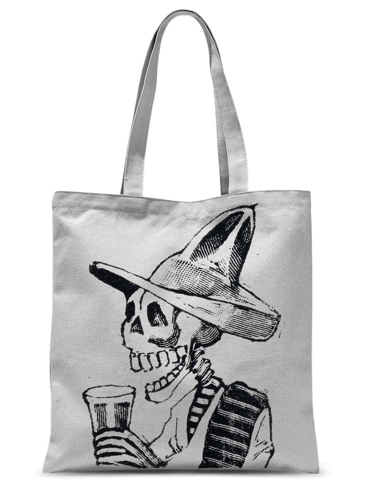A Skeleton Having A Drink by José Guadalupe Posada, ca. 1890–1910 - Tote Bag