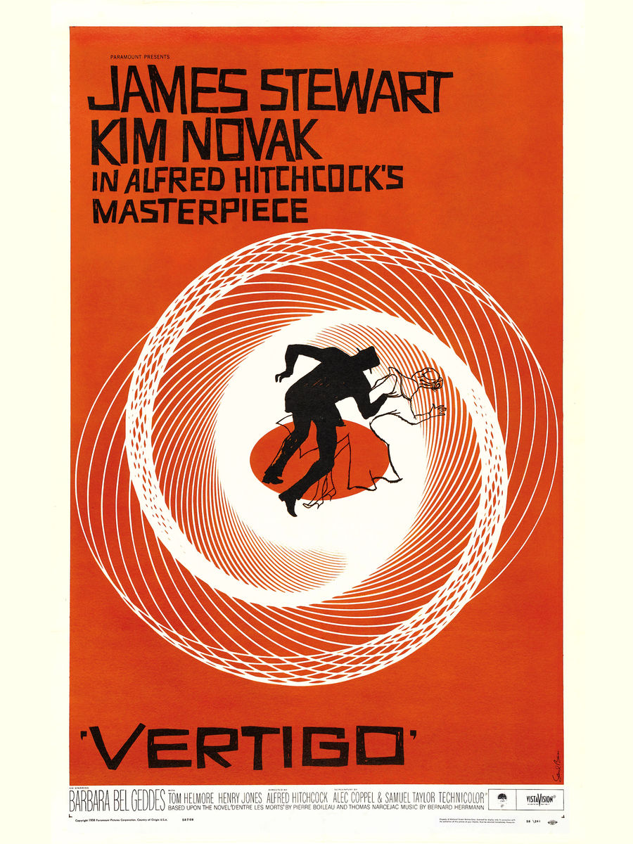 Vertigo Poster by Saul Bass - 1958