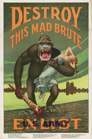 Destroy This Mad Brute by Harry R. Hopps - 1918