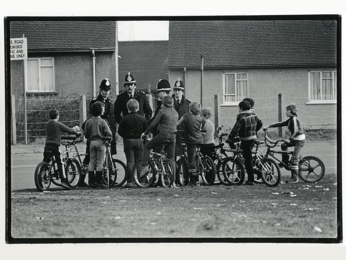 BMX Bikers in Port Talbot, Wales by Dave Sinclair - 1983