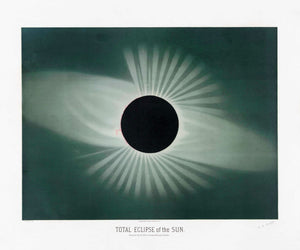 Total Eclipse of the Sun by Etienne Trouvelot - 1882