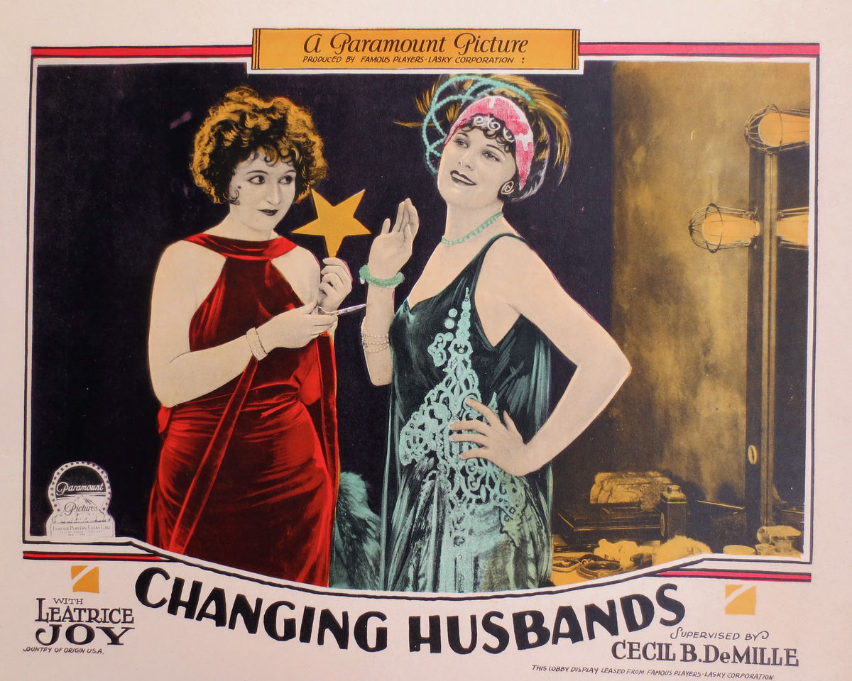Changing Husbands Lobby Card - 1924